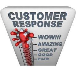 scale of customer response