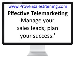 Effective telemarketing training