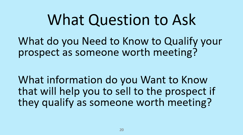 How to qualify potential customers for appointments