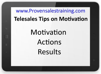 telesales tips on self motivation