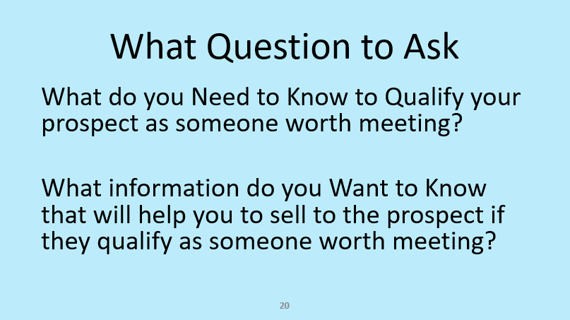 Effective cold calling for sales appointments questions stage