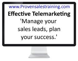 Effective telemarketing lead management